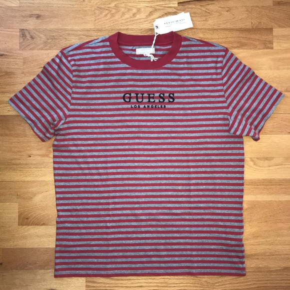 0fcdf249d9 Guess Shirts | Los Angeles Striped Shirt Price Firm | Poshmark
